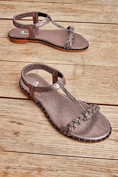 Bambi Platın Kadın Sandalet L0512027736