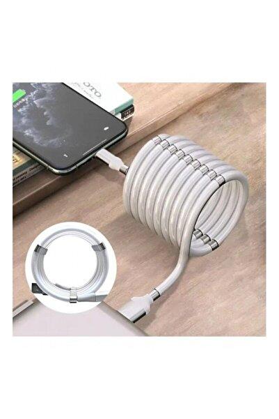 Platoon Manyetik Mıknatıslı Kendini Toplayan Şarj Kablo Usb (type-) Manyetik Mıknatıslı Type-c