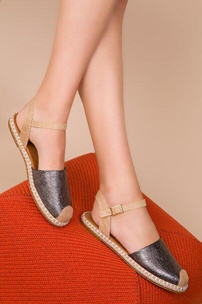 SOHO Platin Mat Kadın Sandalet 14790