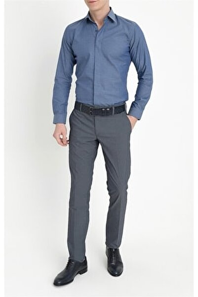 P 1063 Slim Fit Lacivert Spor Pantolon