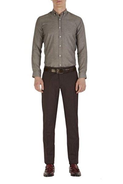 P 1054 Slim Fit Bordo Klasik Pantolon