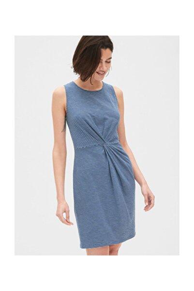 GAP Kadın Kolsuz Çizgili Mini Elbise