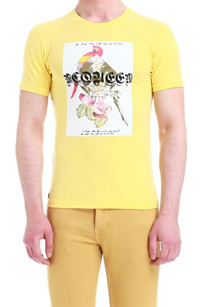Efor Ts 749 Slim Fit Sarı Spor T-shirt