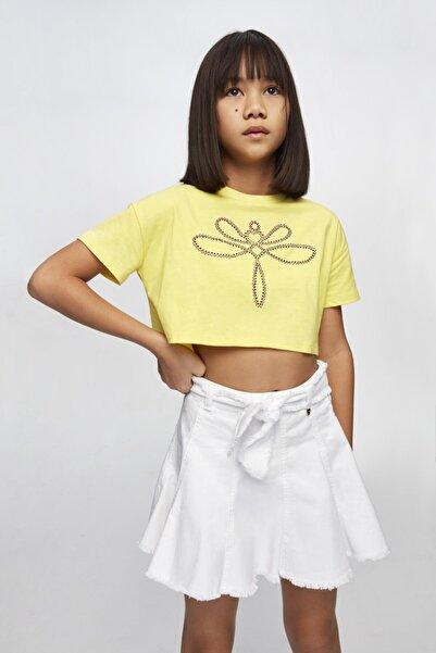 Tyess Kız Çocuk Beyaz Etek