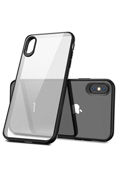 Cimricik Iphone X Xs Kılıf Glass Case Kenarı Silikon Arka Polikarbon Cam