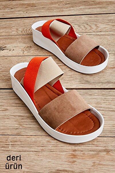 Bambi Vizon Kadın Sandalet L0515131002