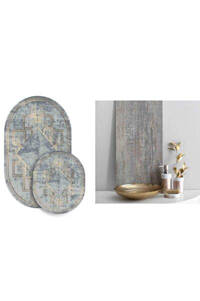 Soley 2'li Oval Süngerli Banyo Paspası