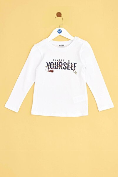 Riccione Kız Bebek Beyaz T-shirt