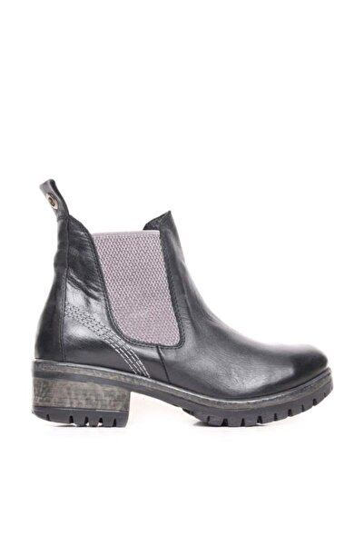 BUENO Shoes Lastikli Hakiki Deri 4,5 Cm Kadın Topuklu Bot 9m0100