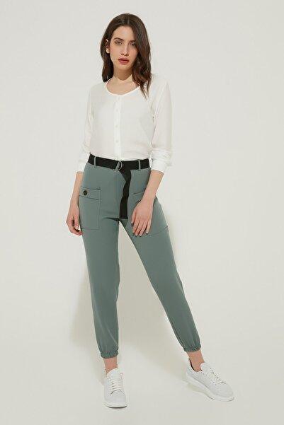 ZİNDİ Kadın Kemerli Pantolon Mint