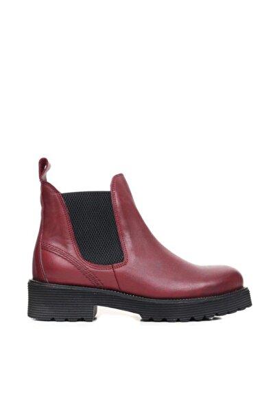 BUENO Shoes Lastikli Yakma Hakiki Deri Kadın Topuklu Bot 9p2500