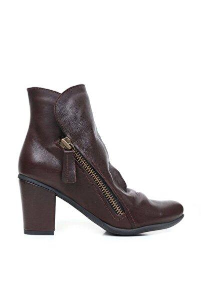 BUENO Shoes Çift Fermuarlı Hakiki Deri Kadın Topuklu Bot 9m0703