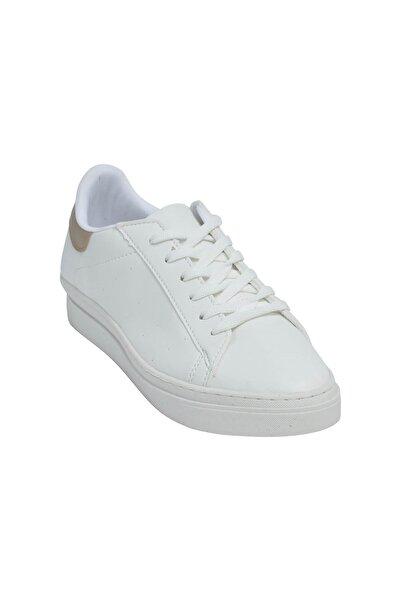 David Jones Kadın Spor Ayakkabı Beyaz Cilt / Dore