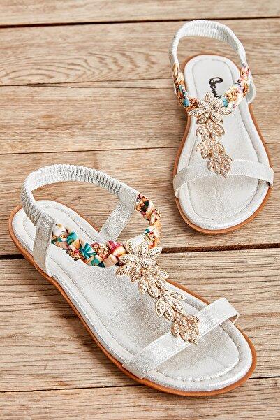 Bambi Gumus Kadın Sandalet L0625306778