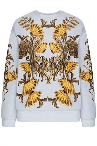 Faberlic Gri Uzun Kol Desenli Sweatshirt 40 Beden