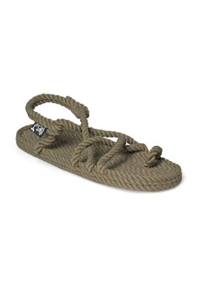 Nomadic State Of Mind - Toe Joe Olive Hasır Ip Sandalet
