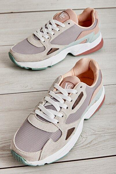 Bambi Açıkgrı/s.yeşil/pudra Kadın Sneaker L0591937822