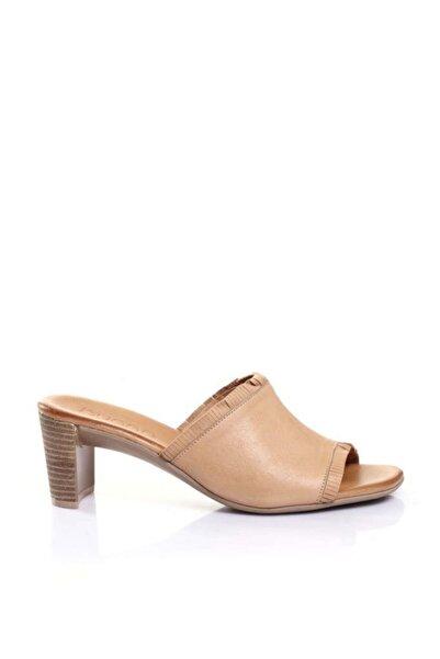 BUENO Shoes Püsküllü Hakiki Deri Kadın Topuklu Terlik 9n4002