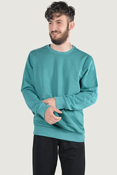 Terapi Men Erkek Uzun Kollu Bisiklet Yaka Basic Sweatshirt 20y-5200203 Petrol Yeşili