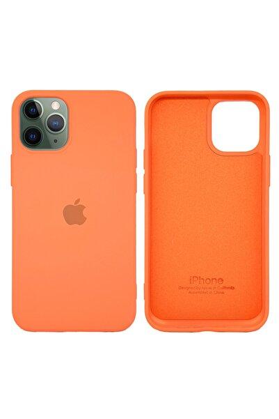 Joyroom Apple Iphone 12 Mini Lansman Kılıf Mikro Fiber Iç Yüzey Turuncu