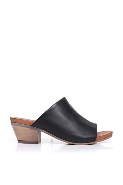 BUENO Shoes Lastikli Hakiki Deri Topuklu Kadın Terlik 9j1815