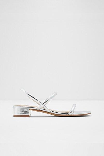 Aldo Candıdly - Orta Topuklu Gümüş Kadın Sandalet