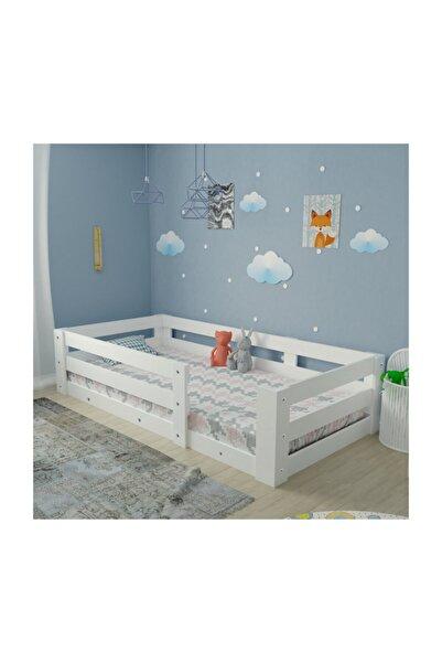 Herseycik Ninnimo Yüzde Yüz Mdf Montessori Karyola Beyaz Y19 - 90x190 Yatak Uyumlu - Y 1036