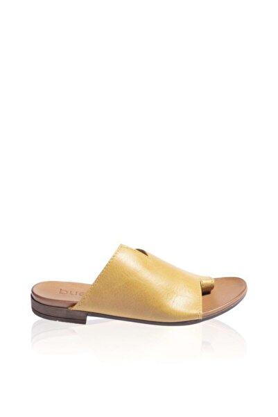 BUENO Shoes Parmak Arası Hakiki Deri Kadın Düz Terlik 9j2217