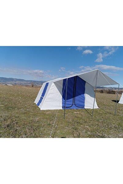 TUNÇ KAMP ÇADIRI Aile Tipi 2 Odalı 6 Kişilik Kamp Çadırı - Mavi