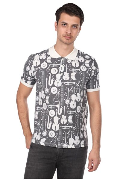 Phazz Brand Enstürman Desenli Polo Yaka Erkek T-shirt