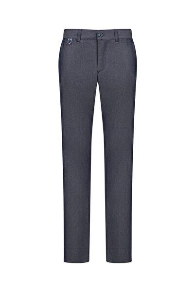 Avva Erkek Lacivert Yandan Cepli Mikro Desenli Slim Fit Pantolon A91y3006