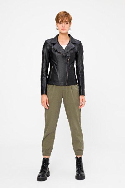 Deri Company Kadın Hakiki (Gerçek) Deri  Ceket Perla Siyah 211525