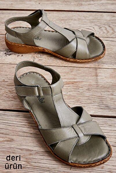 Bambi Hakı Kadın Sandalet L0809926803
