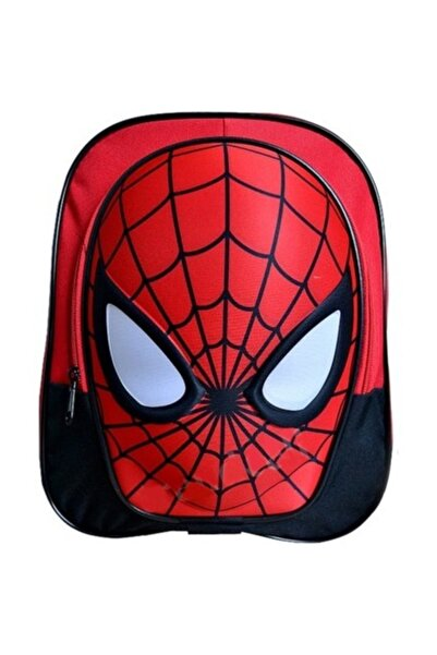 Ewason Spiderman Çift Fermuarlı Anaokulu Ve Günlük Kullanım Çantası Örümcek Adam Anaokulu Çantası
