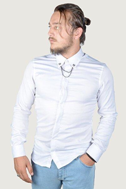 Terapi Men Erkek Gömlek 8y-4300363-001-3 Beyaz