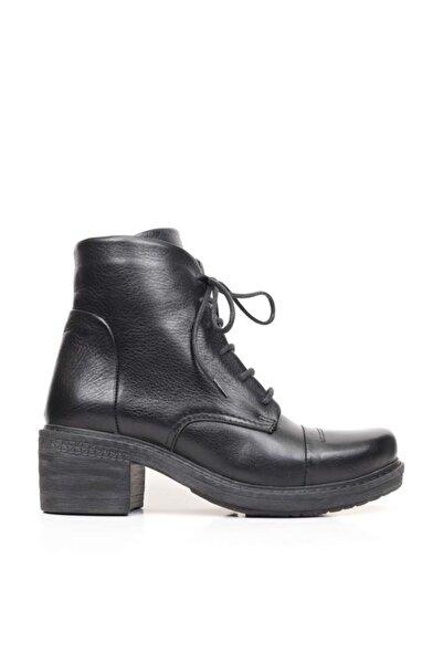 BUENO Shoes Fermuarlı Yakma Hakiki Deri Kadın Topuklu Bot 9p2911
