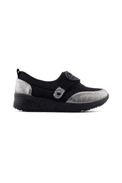MT M&t 9601 Kadın Günlük Ayakkabı-siyah Platin