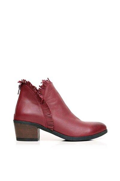 BUENO Shoes Püskül Detaylı Hakiki Deri Kadın Topuklu Bot 9m0903