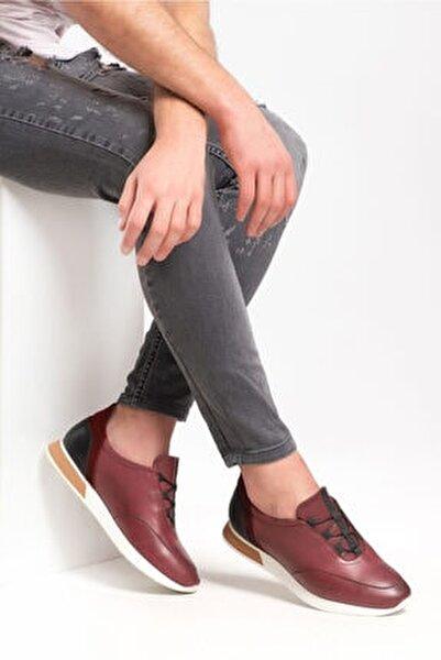 181040 Bordo Erkek Casual Deri Ayakkabı
