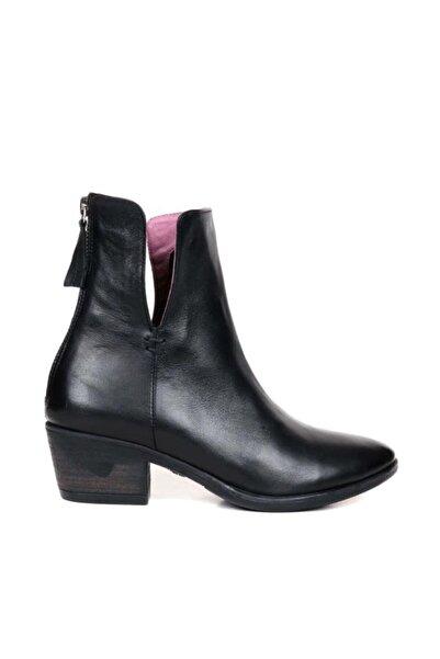BUENO Shoes Fermuarlı Hakiki Deri 5 Cm Kadın Topuklu Bot 9p4906