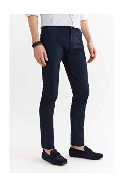 Avva Erkek Koyu Lacivert Yandan Cepli Armürlü Slim Fit Pantolon A01s3075