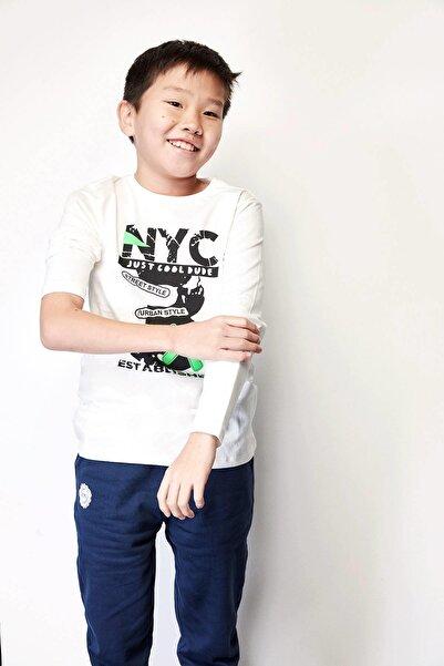 Riccione Erkek Çocuk Ekru T-shirt