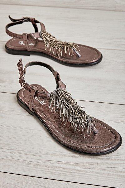 Bambi Platin Kadın Sandalet L0625020378