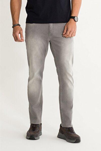 Avva Erkek Açık Gri Slim Fit Jean Pantolon A01s3703