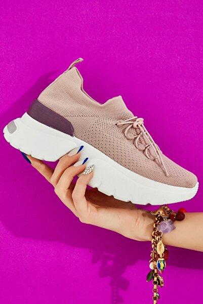 Bambi Nude/mor Kadın Sneaker L0816153482