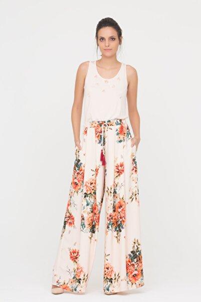 GİZİA Çiçek Desenli Yazlık Pantolon