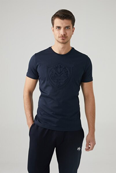 MP Erkek Bisiklet Yaka Lacivert T-shirt Tekstil 201-5010mr 300