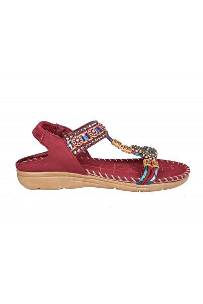 Guja 20y150-10 Ortopediik Bordo Kadın Sandalet