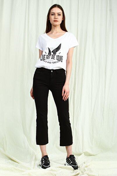 Collezione Sıyah Normal Bel Flare Kadın Pantolon