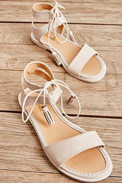 Bambi Bej Kadın Sandalet L0652071065